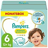 Pampers Baby Windeln Größe 6 (13-18kg) Premium Protection, 120 Stück, MONATSBOX, Pampers Weichster Komfort Und Schutz
