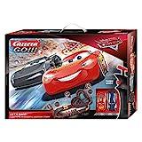 Carrera 20062475 GO!!! Disney Pixar Cars Let's Race Rennstrecken-Set   6,2m elektrische Carrerabahn mit Lightning McQueen & Ramirez Spielzeugautos   mit 2 Handreglern & Streckenteilen   Ab 6 Jahren