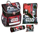 Scooli SWNH8371 - Schulranzen mit Schuhbeutel, Brustbeutel und Schlamperetui, leicht, ergonomisch, Star Wars mit Darth Vader und Stormtrooper, 4 teilig