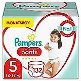 Pampers Baby Windeln Pants Größe 5 (12-17kg) Premium Protection, 132 Höschenwindeln, MONATSBOX, Weichster Komfort Und Einfaches Anziehen