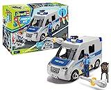 Revell Junior Kit 00811 Police Van Polizei Auto Modellbausatz für Kinder zum Schrauben, Bunt