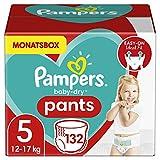 Pampers Windeln Pants Größe 5 (12-17kg) Baby Dry, 132 Höschenwindeln, MONATSBOX, Einfaches An- und Ausziehen, Zuverlässige Trockenheit