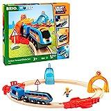 BRIO 63397400 Action Tunnel Circle Set-33974 Bahn 33974-Smart Tech Sound Starter Set