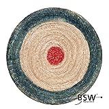 Runde Strohscheibe Deluxe - Ø 80 cm x 8 cm - Zielscheibe - Farbe: blau-rot; Zubehör für Bogenschießen, Pfeil und Bogen, Bogensport