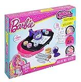 Knorrtoys GL7574 - Glitza Barbie Studio mit temporären Glitzer Tattoos im Barbie Style