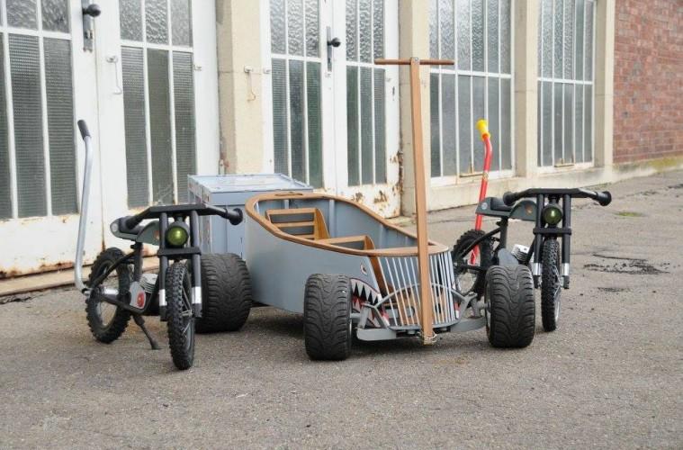 Daddystyle Kustomized Bollerwagen Amp Custom Bikes F 252 R Die Kids Daddylicious