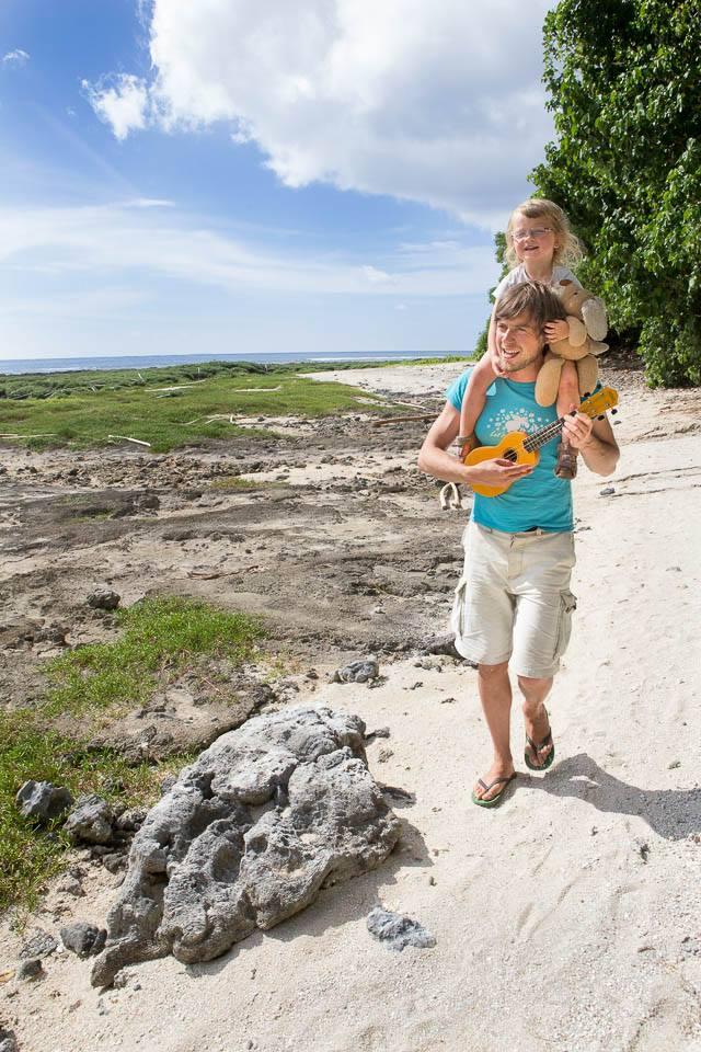 Daddy Thomas Alboth ist mit der Familie während der Elternzeit auf Weltreise
