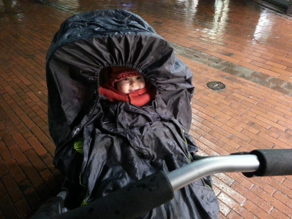 Kinderwagen Emmaljunga Mondial Duo Combi mit Regenschutz