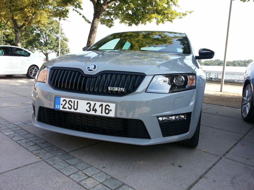 Škoda Octavia RS auf Testfahrt