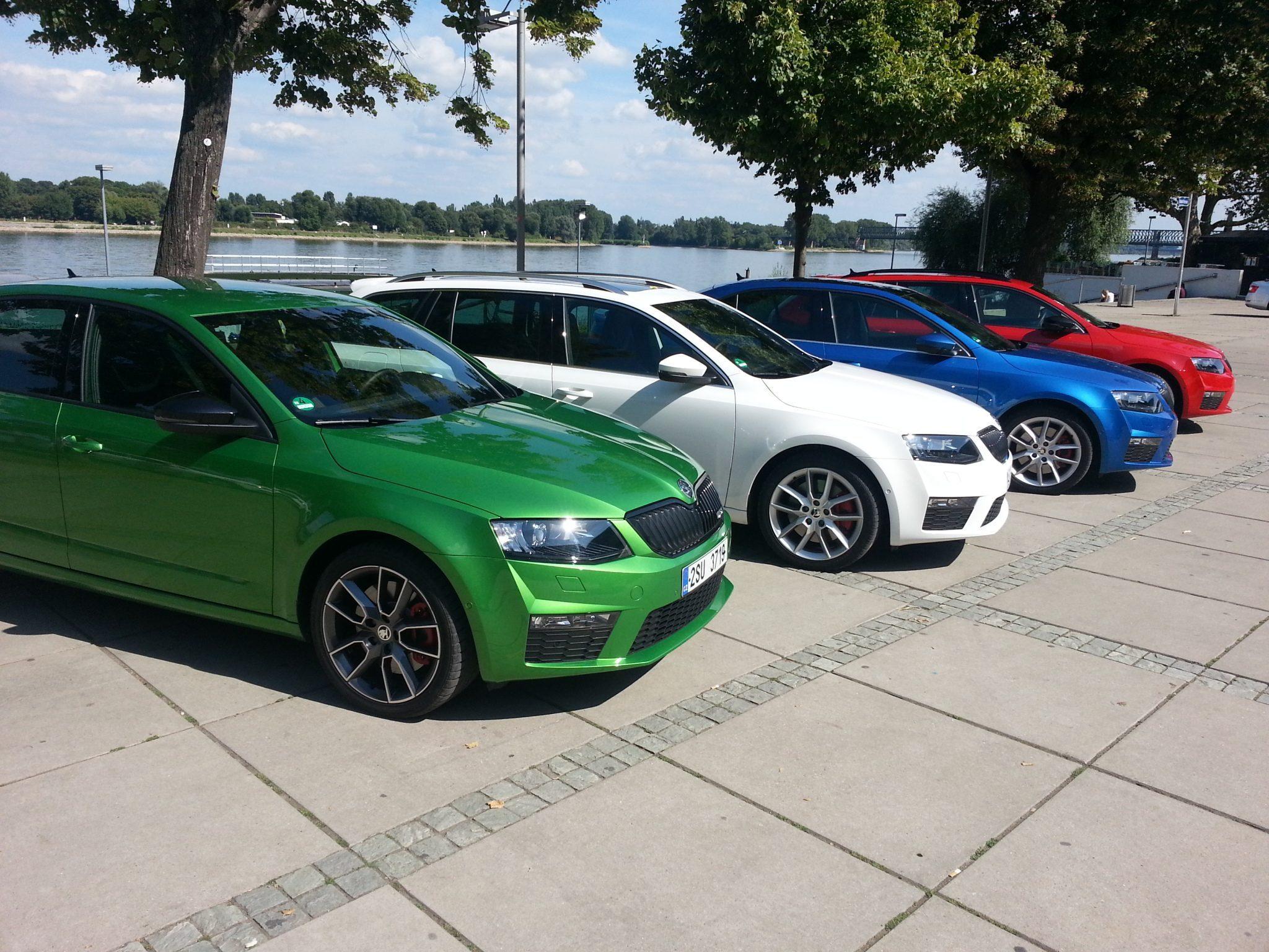 Škoda Octavia RS Farbauswahl