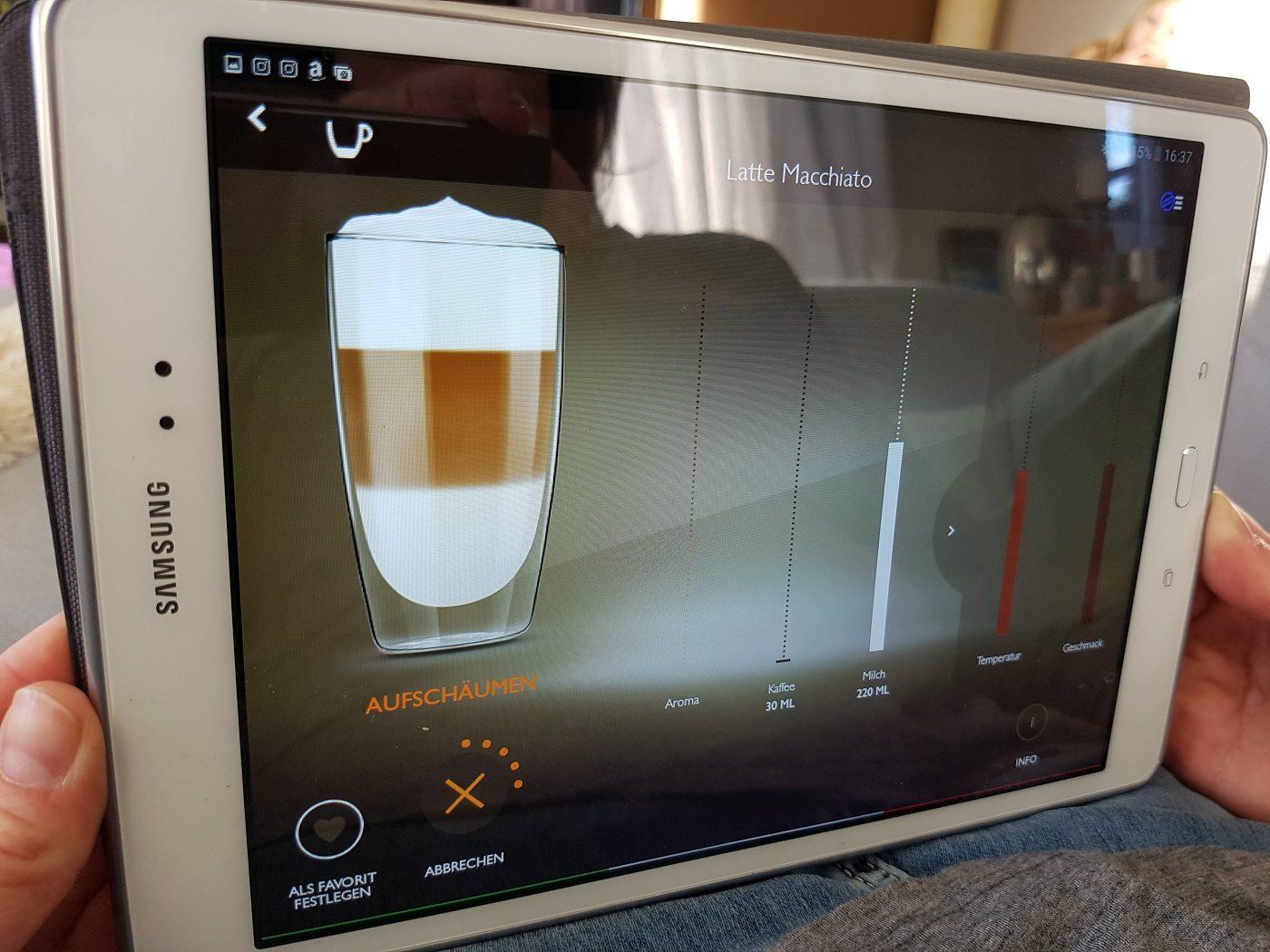 Saeco GranBaristo Avanti Kaffeevollautomat App