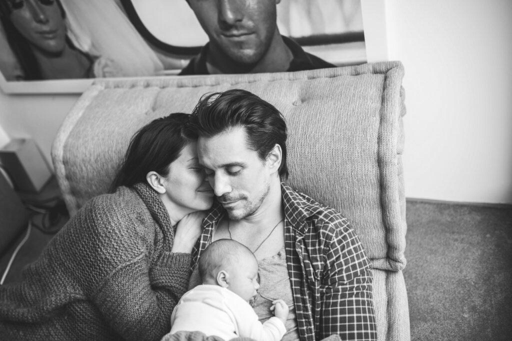 Schauspieler Philipp Christopher mit Frau und Kind