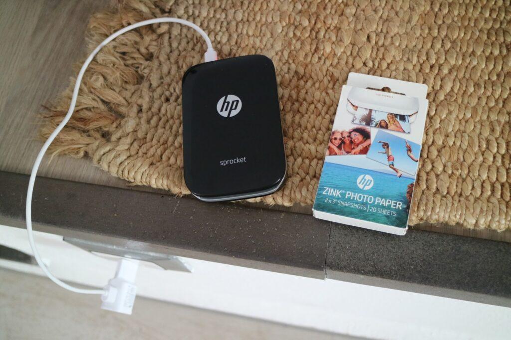 HP Sprocket aufladen