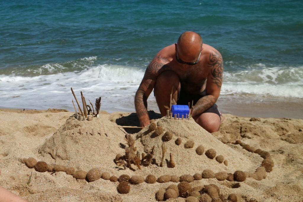 sardinien strand sandburg