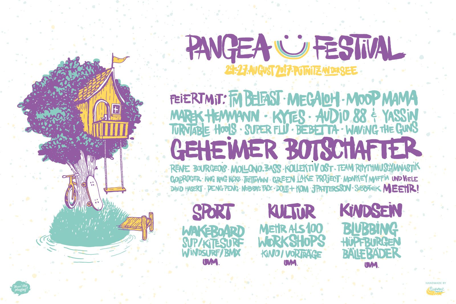 Line-up Grafik Pangea Festival