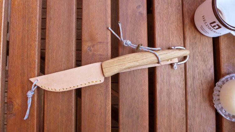 Ein fertiges Messer mit dem Bausatz von Heldbergs