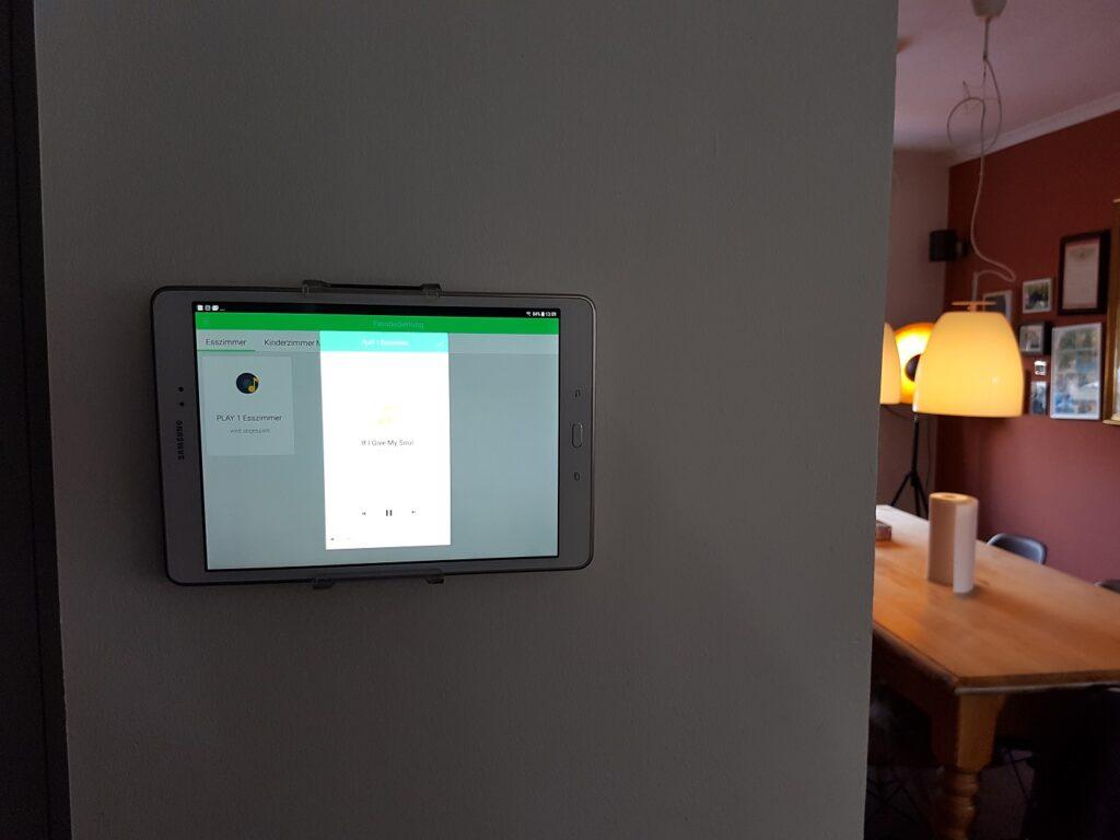 einfachsmart tablet mit Sonos App