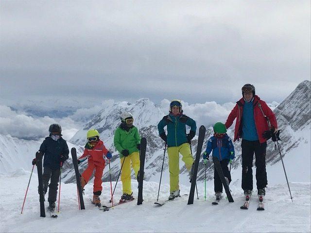 Eine Familie auf der Zugspitze