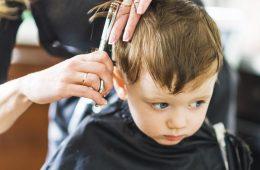 Hairdresser shears boy scissors