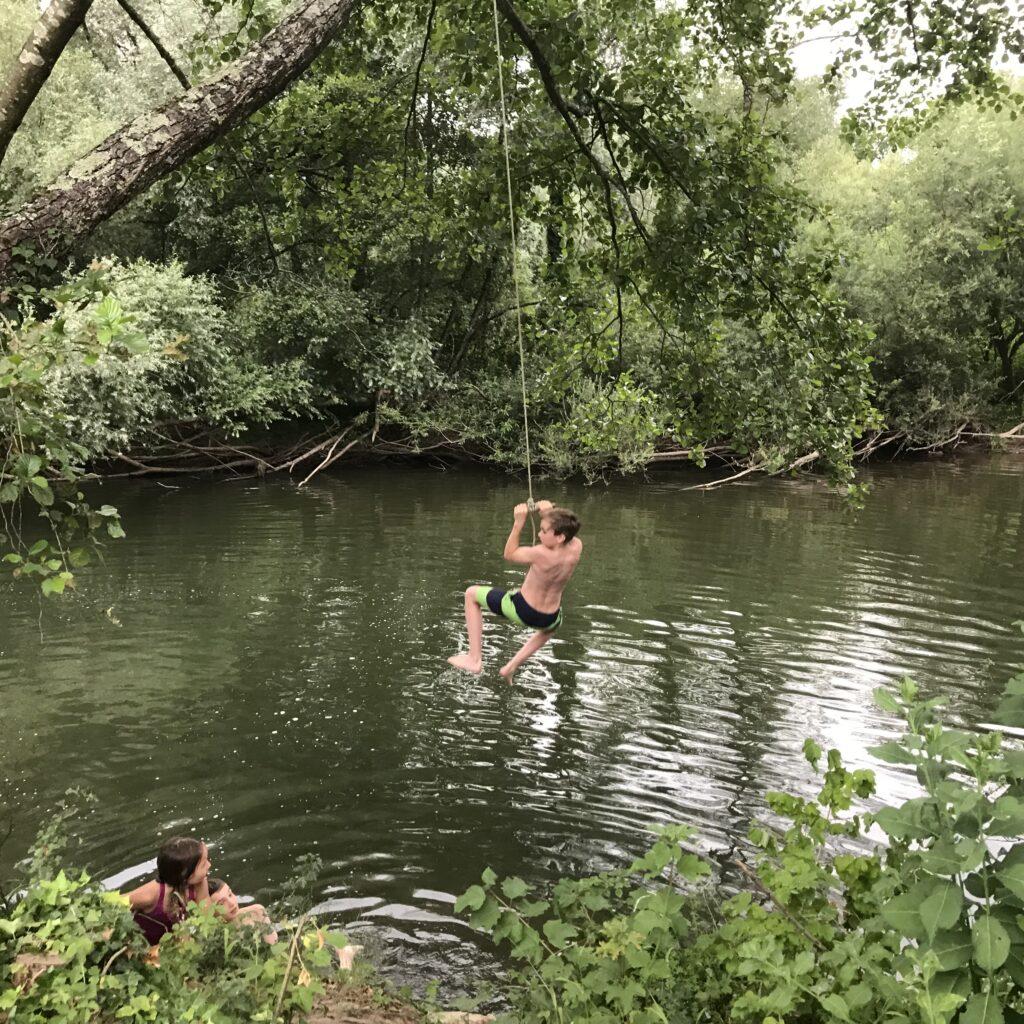 abendliches Bad im OgnonSeil