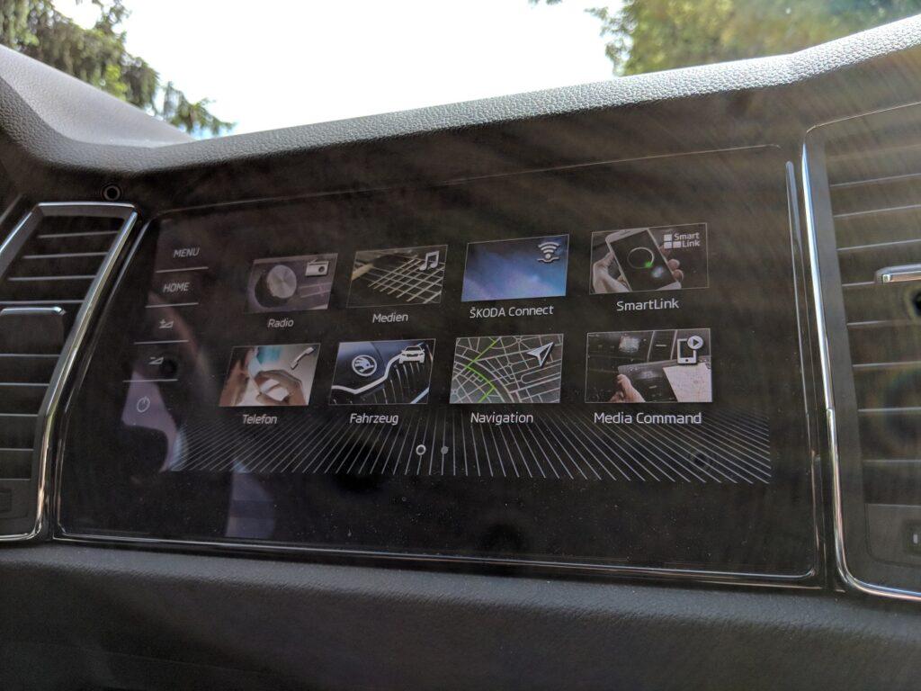 Škoda Kodiaq Display
