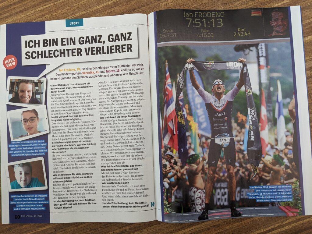 Dein Spiegel 08/2020 Interview Jan Frodeno