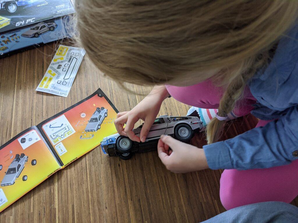 playmobil DeLorean Aufbau
