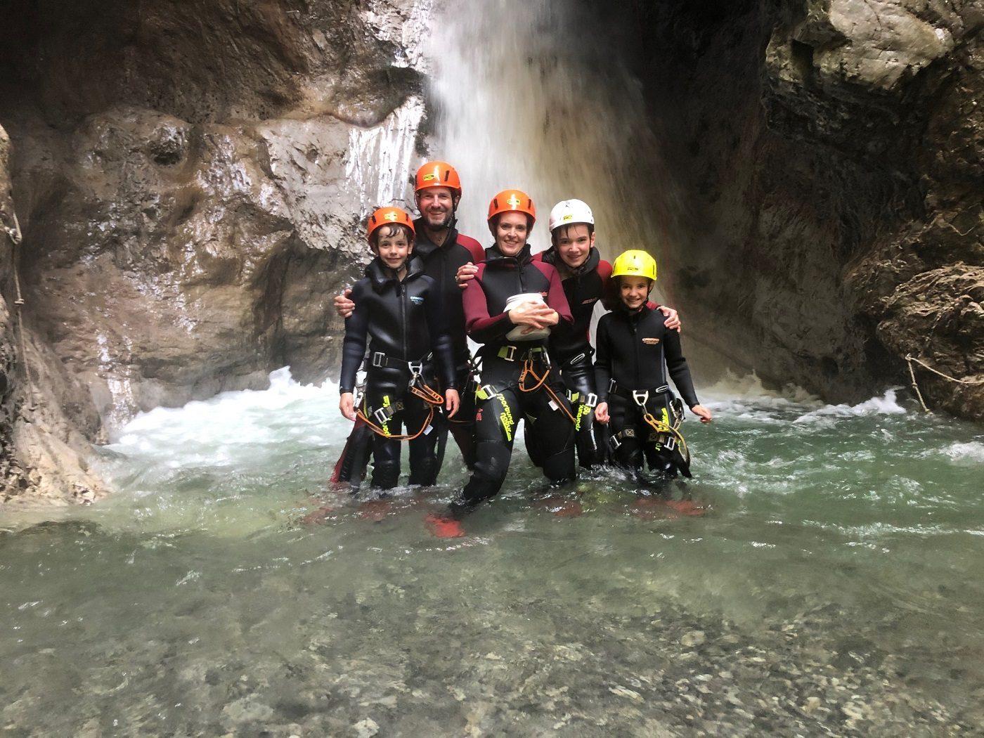 canyoning familienurlaub