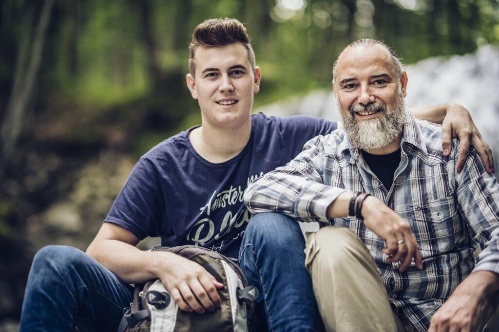Andreas Seltmann mit Sohn auf dem Trip zu NeuseeSohnland