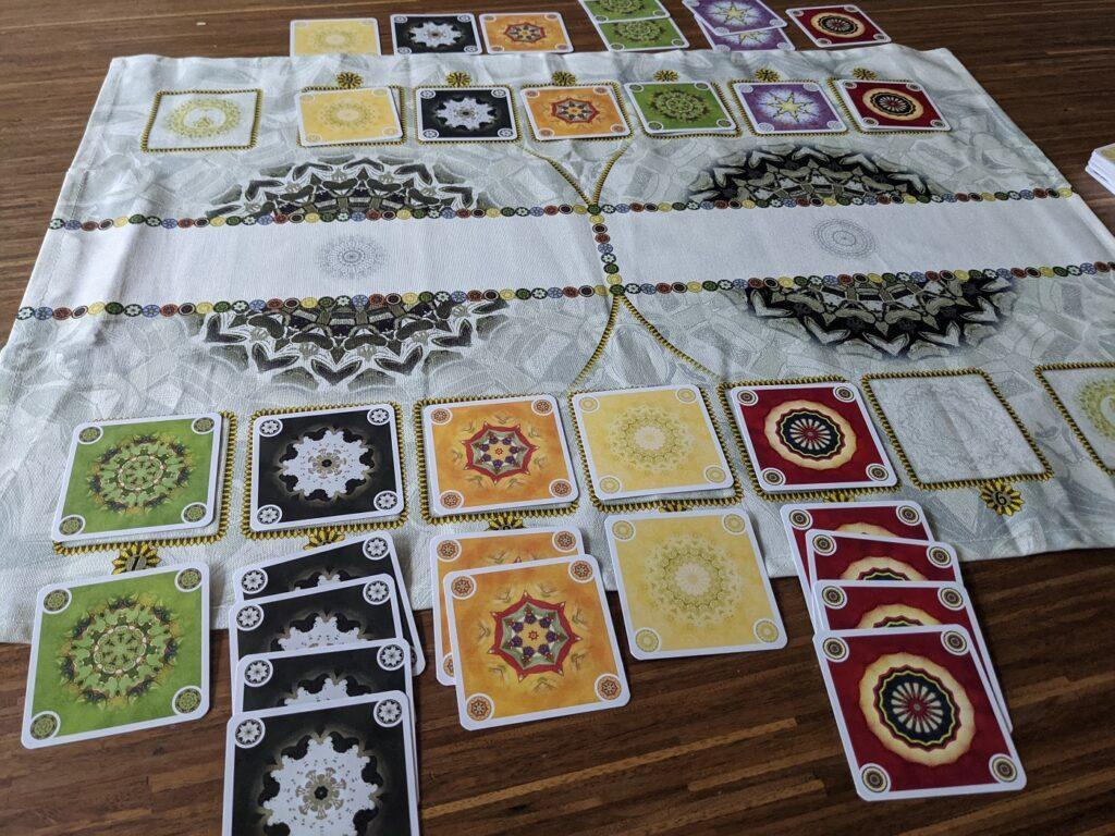 Kartenspiel Mandala Auszaehlung