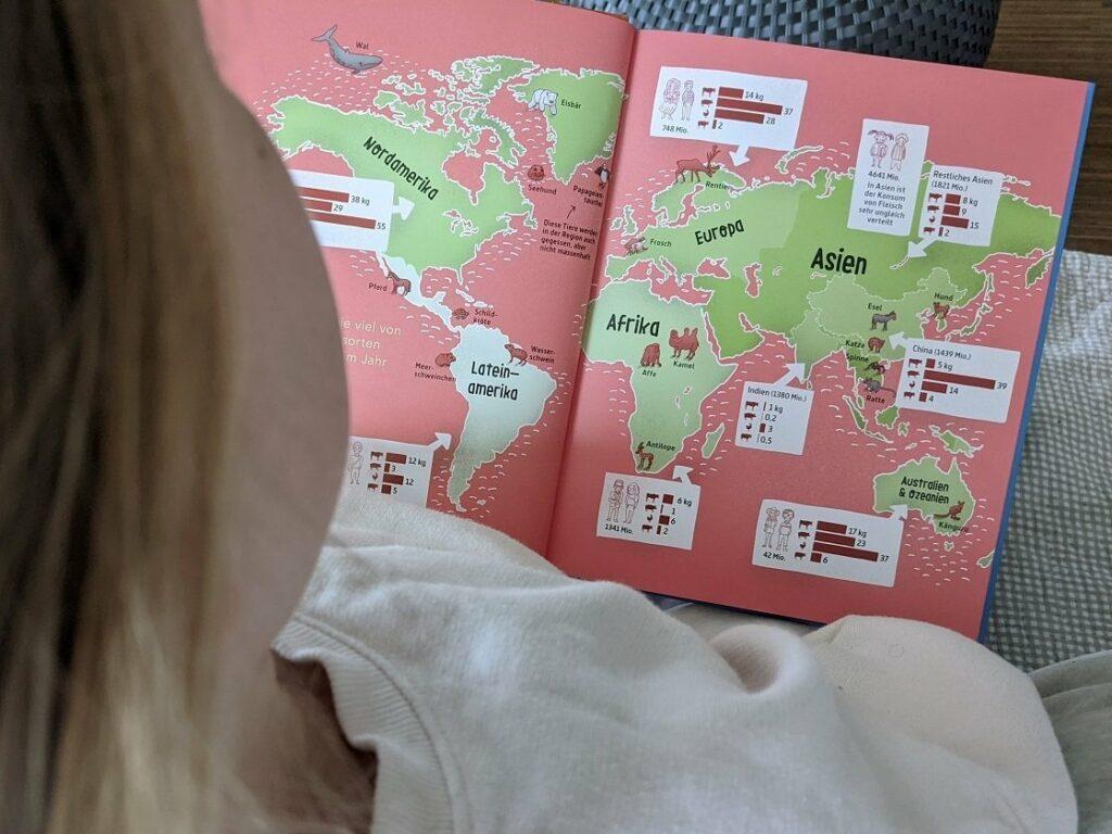 Tolle Infos und Grafiken zu Fleisch im Buch