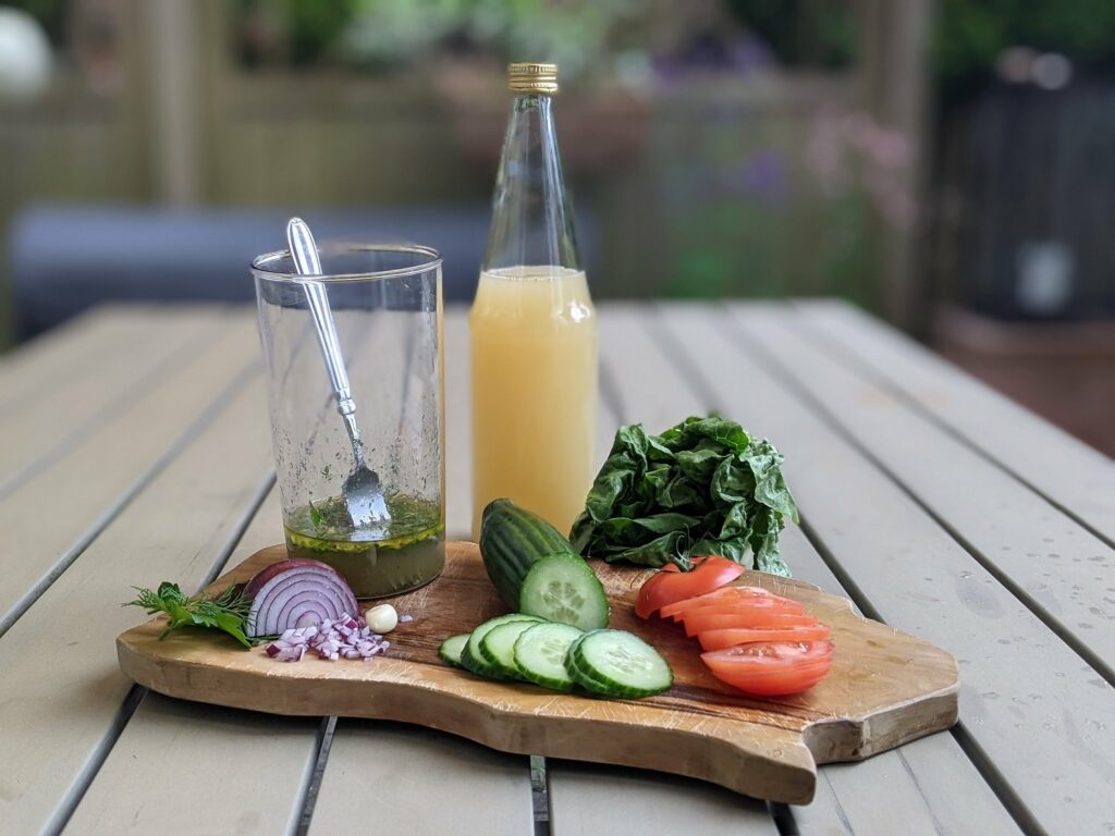 salatdressing mit Fruchtsaft