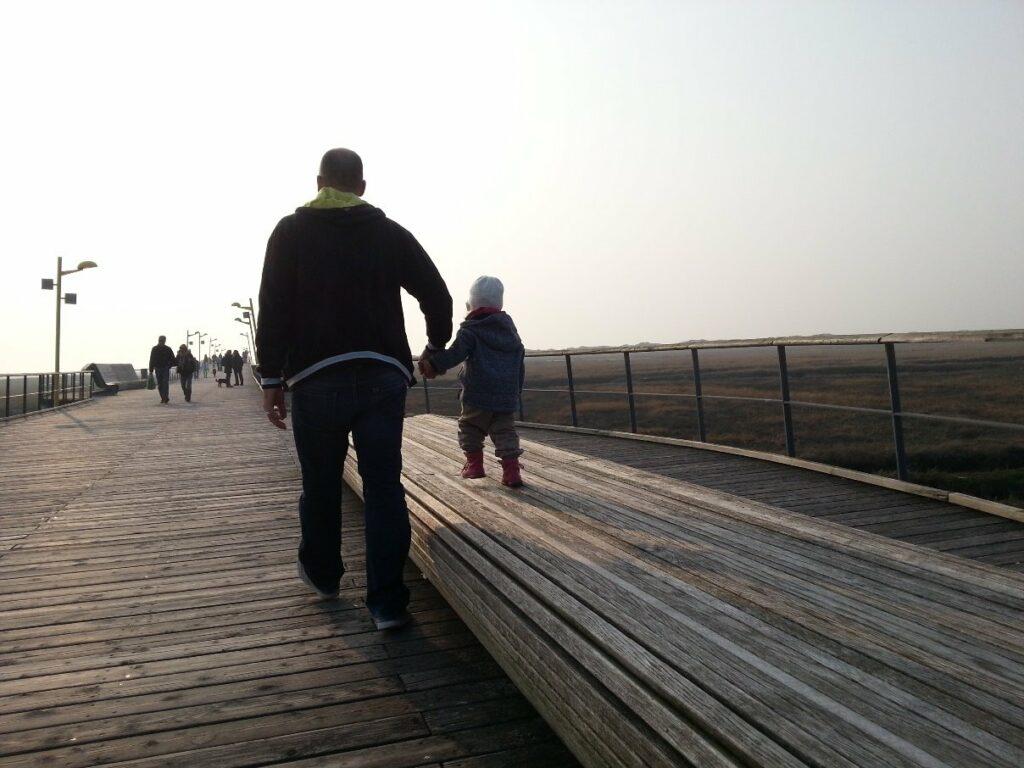 Patchwork-Papa Kai Bösel mit seiner Tochter