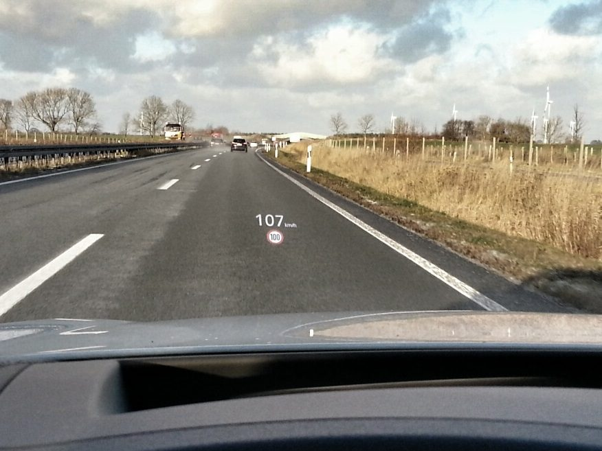 Audi A6 Avant 3.0 TDI quattro (2013) Headup-Display