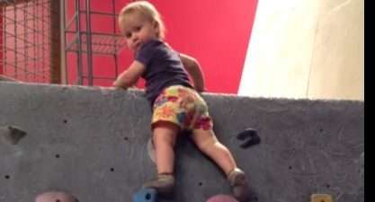 Baby climbing indoors YouTube