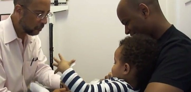 Baby laughing while getting shots YouTube