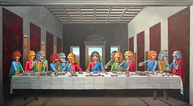 Klassische Malerei mit Playmobil