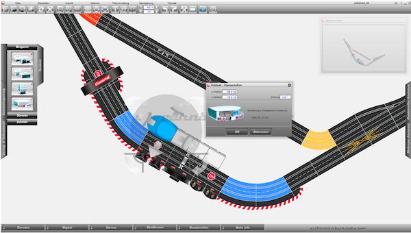 Bahn mit Plan - Aufbauhilfe für Carrera