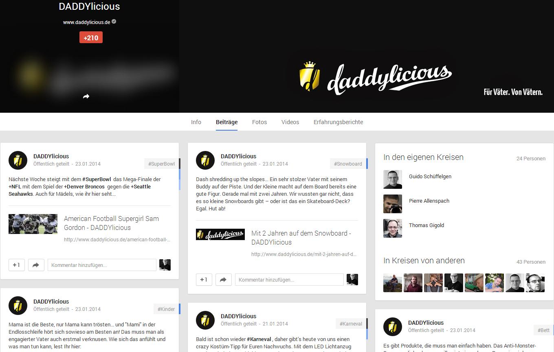 Daddylicious auf google+
