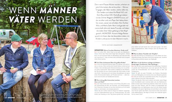 DADDYlicious im Münster Magazin