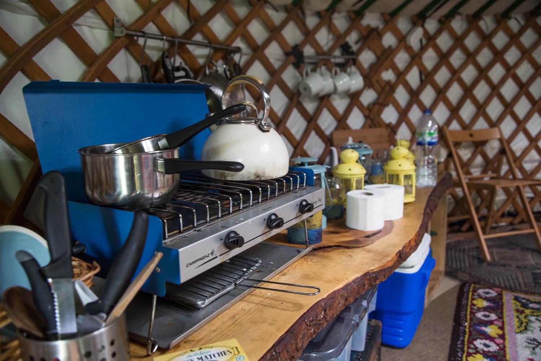 Kochstelle im Nomadenzelt