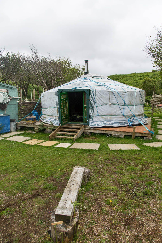 Das Nomadenzelt von außen