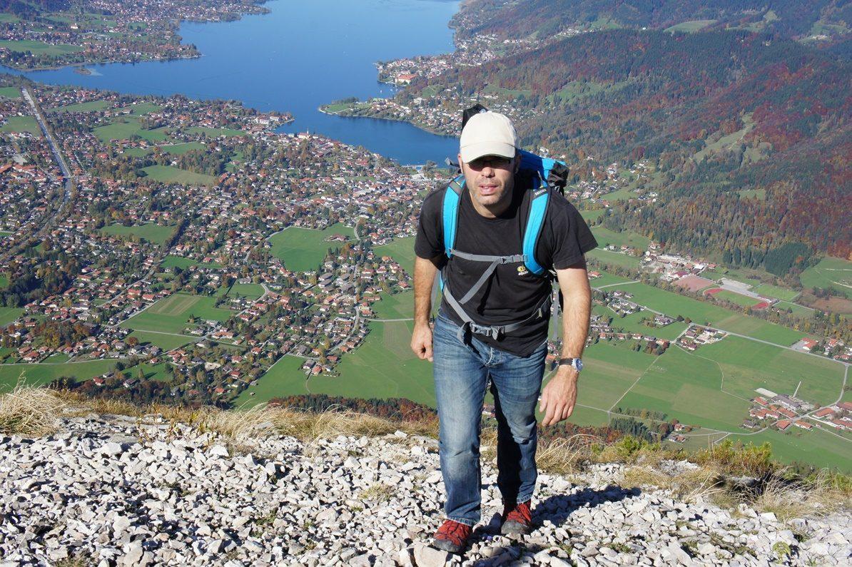 Uli Wittmann klettert