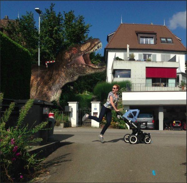 Babysitter Dinosaurier