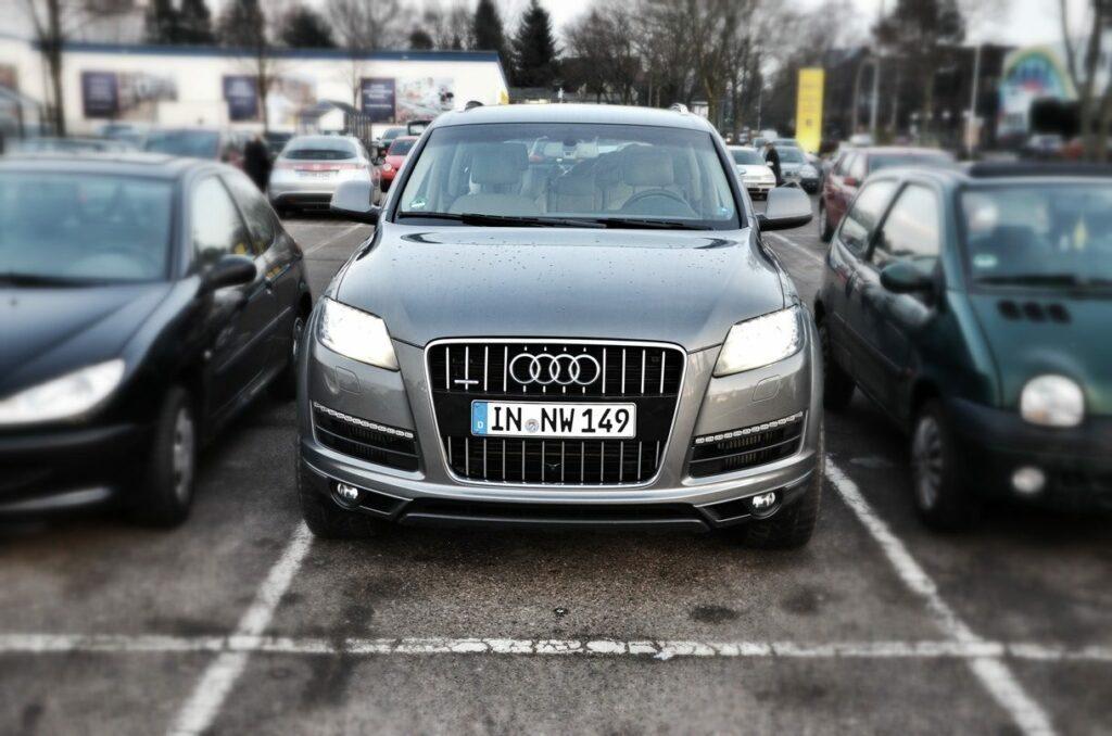 Audi Q7 3.0 TDI (2014) Parklücke