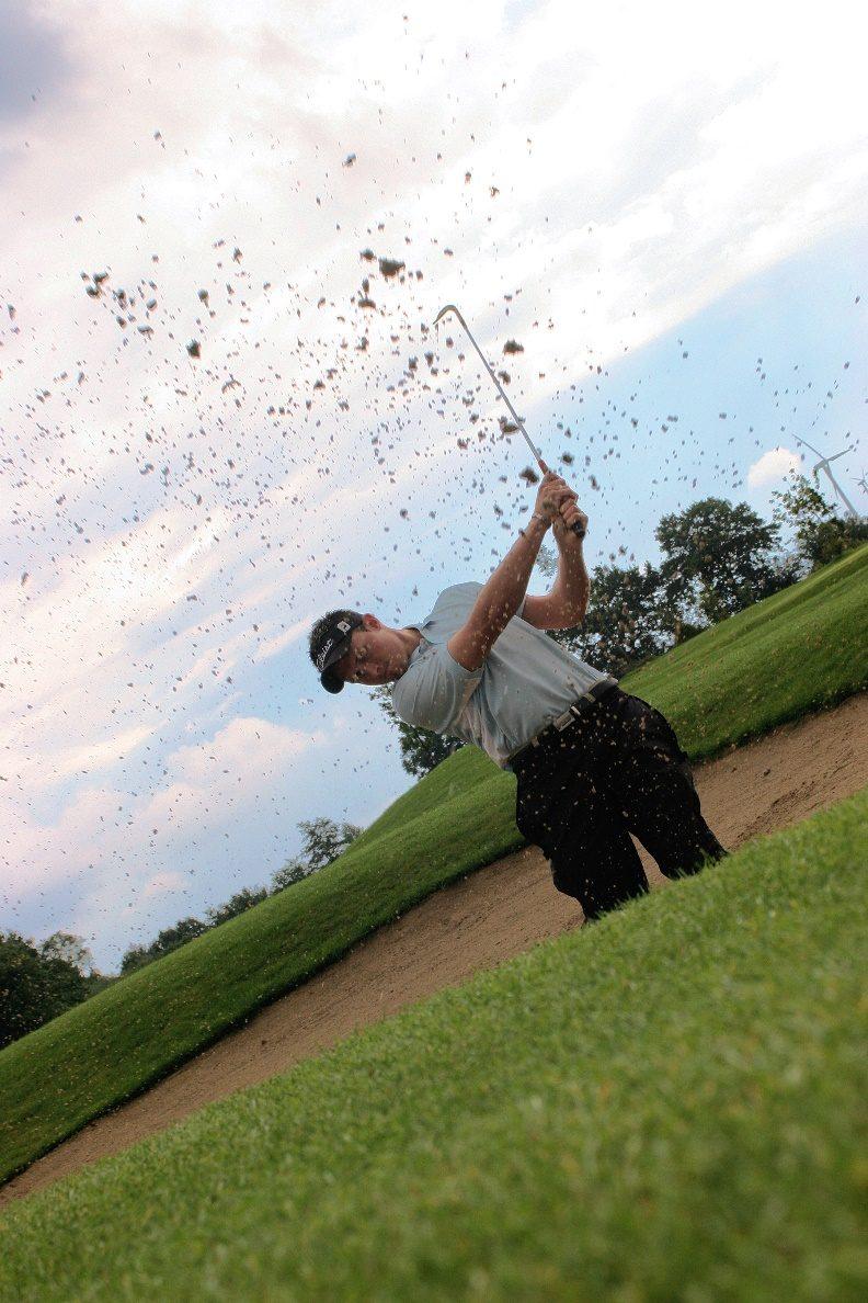 Bunkerschlag beim Golf