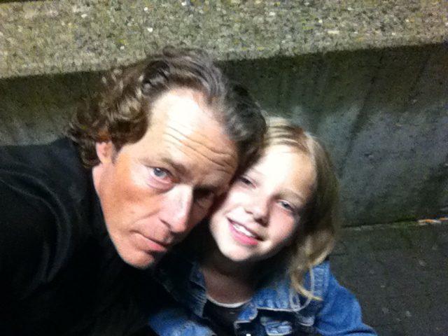 Oliver Sauer mit Tochter