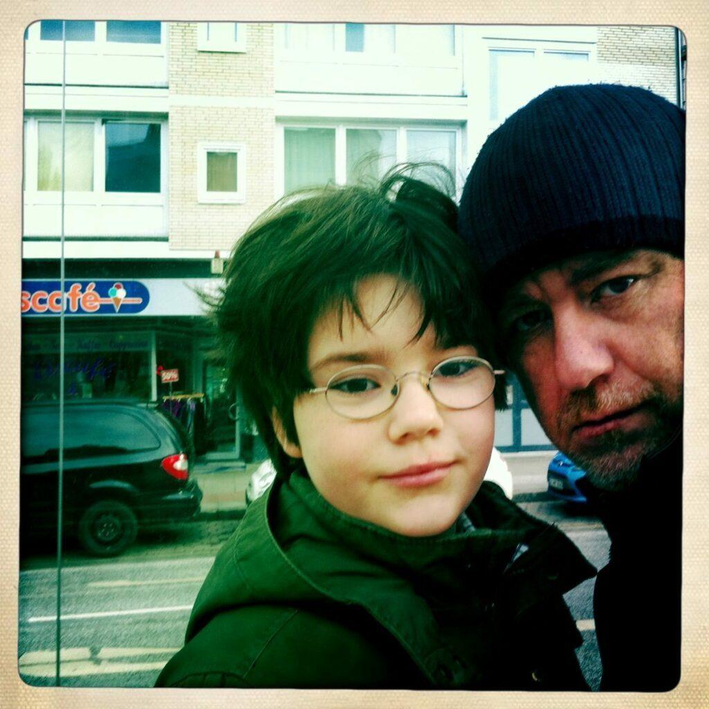 Stefan Alt mit seinem Sohn Julius