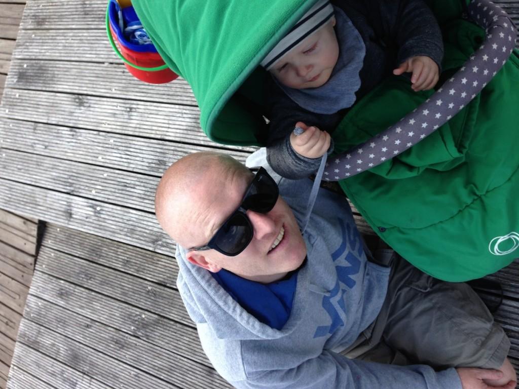 Mark Bourichter mit Sohn Henri