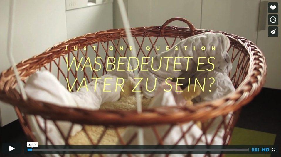 JUST ONE QUESTION Was bedeutet es Vater zu sein on Vimeo 1